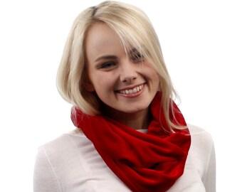 Red velvet Scarf / women scarf / Velvet Infinity Scarf / velvet scarf / loop scarves / fabric scarves / gift for her