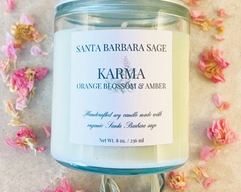 Orange Blossom & Amber Soy Candle by Santa Barbara Aromatics | Gift for Her | Gift for Mom | Essential Oil Candles | Bridesmaid Gift