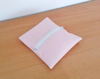 Faux pink wallet