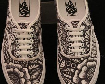 Zentangle Shoes Etsy