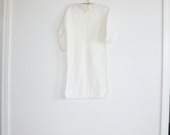 Vintage White Baby Knit Sleep Sack