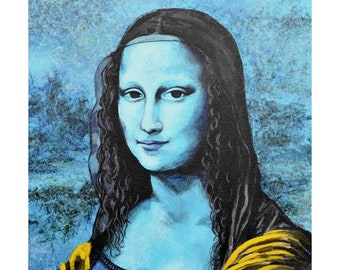 Mona Lisa. Impressionistic Portrait - Limited Edition Giclee from Original acrylic painting on canvas by NadYa Rego