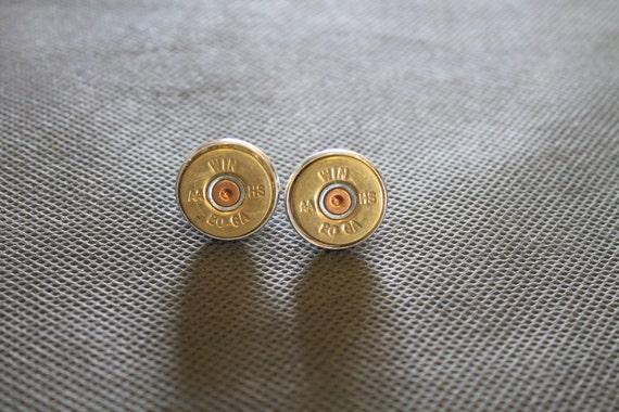 20 Gauge Shotgun Shell Head Cuff Links; Shooting Sports Jewelry; Shotgun Shell Jewelry; Shotgun Shell Cuff Links