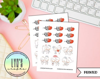 Date Night Stickers // Planner Stickers // Date Stickers // Couple Stickers // Love Stickers