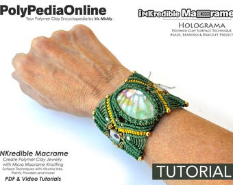 Micro Macrame Jewelry, Macrame Jewelry Pattern, Macrame Patterns, Macrame Jewelry, Macrame Tutorial, Bracelet Pattern, Handmade, DIY Polymer