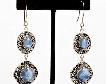 Kyanite 214 - Earrings - Sterling Silver & Kyanite