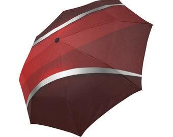 Red Umbrella Burgundy Umbrella Designed Umbrella Metallic Pattern Umbrella Art Umbrella Photo Umbrella Automatic Foldable Umbrella