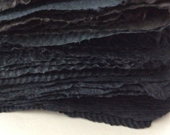 Handmade paper - Shades of Black - Homemade Paper - Pick the Amount - acid free - recycled paper - textured paper - Archieval quality