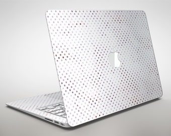 Tiny Purple Watercolor Polka Dots V2  - Apple MacBook Air or Pro Skin Decal Kit (All Versions Available)
