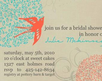 Bridal Shower Einladung--Voller Blüte