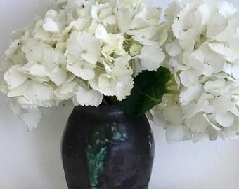 Handmade Ceramic Flower Vase Black