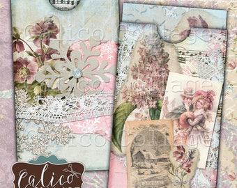 Simply Winter, Printable Envelope, Collage Sheet, Junk Journal, Printable Ephemera, Victorian Christmas, Junk Journal Tags, Digital Download