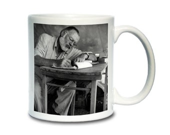 Coffee Mug; Ernest Hemingway For Whom The Bell Tolls, The Old Man And The Sea,