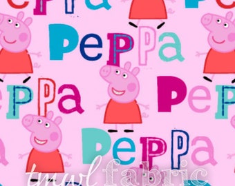 Woven Fabric - Nick Jr. Peppa Pig - Fat Quarter Yard +