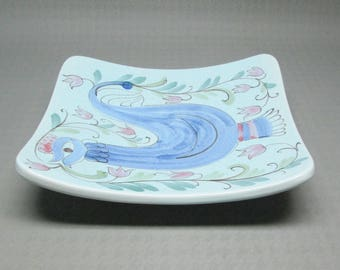 Vintage Arabia Of Finland rooster dish / wall hanging