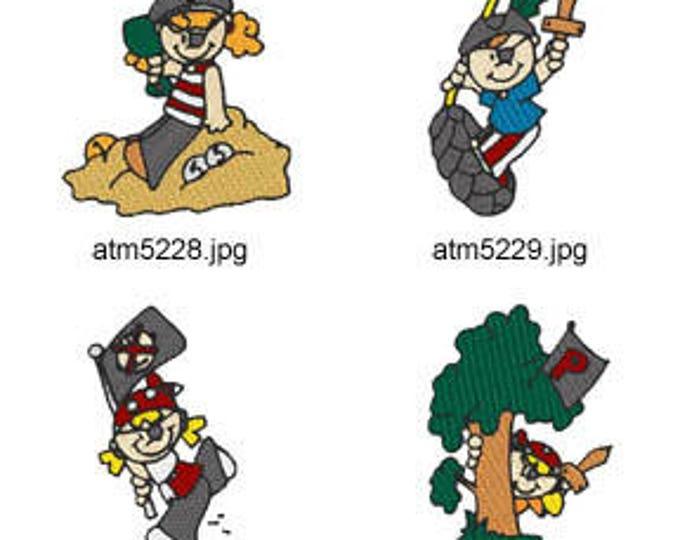 Kid-Pirates. ( 7 Machine Embroidery Designs from ATW ) XYZ17E