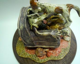 Lost My Head Ceramic Sculpture.