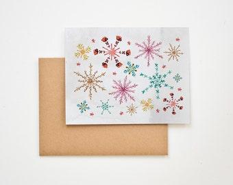 Winter Snowflake Holiday Greeting Card