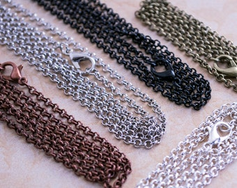 50- 18 inch Necklace Chains - Bulk Chains - Rolo Chains Loop Style - Belcher Chains - Wholesale Craft Supplies - Wholesale Chains DIY Chains