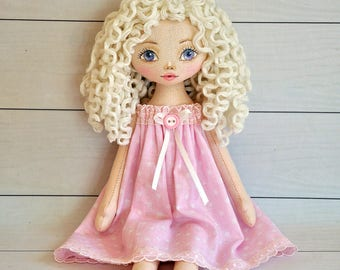 Princess doll, Textile Tilda doll