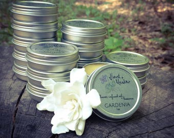 Gardenia Solid Scent  ||  Real Flowers  ||  Handmade  ||  Local