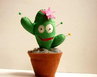 Cactus Plush, Plant Plush, Decorative Plant, mini collectible cactus, plush cactus.