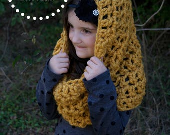 PATTERN // Crochet Chunky Cowl Pattern // Baby, Toddler, Child, Adult Sizes // The SARATOGA