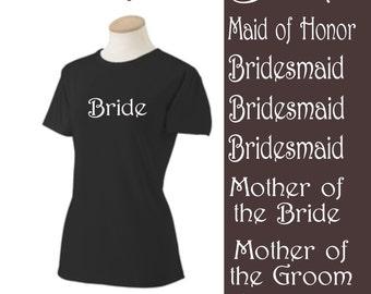 Wedding shirts Lot 8 Wedding Iron On Shirt Decals