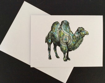 A5 Paisley Camel