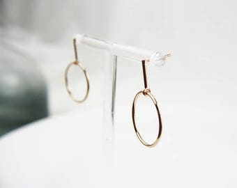Rose Gold Circle gold plated earrings