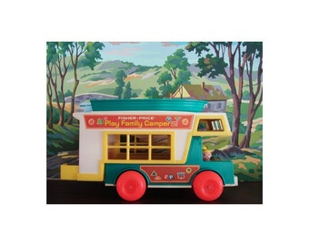 fisher price camper with paint by number background print