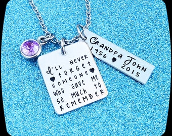 Memorial Jewelry, Remembrance Necklace, dad, mom, son, brother, husband, child loss memorial, Memorial Necklace, Personalized