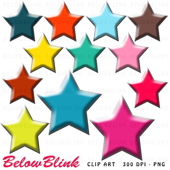 colorful stars clipart clip art digital scrapbooking commercial use rh etsystudio com digital scrapbooking clipart free