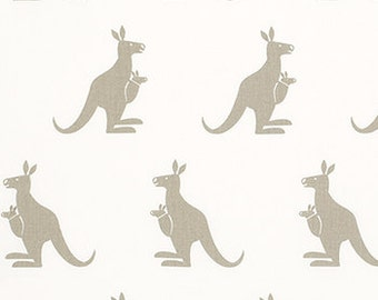 "KANGAROO fabric-Premier Prints White/Gunmetal Tan or choice of color 54"" wide Fabric by the yard 1 Yard or More"