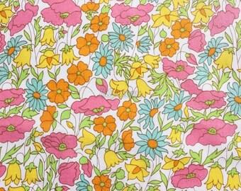 SALE - Liberty tana lawn printed in Japan - Poppy & Daisy - Yellow mix