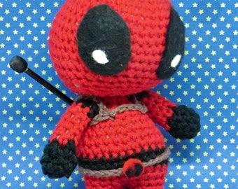 Deadpool Inspired by Marvel comics PDF crochet pattern