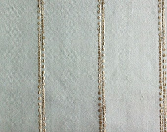 Pale Blue Grey Minimal Tribal Stripe Upholstery Fabric