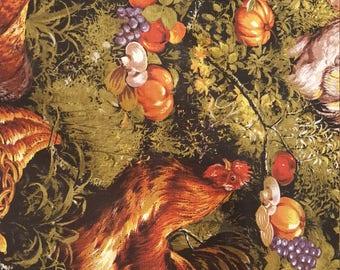 Moda Fabric, Autumn Breeze Chicken Pattern