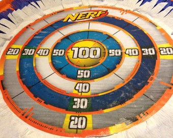 Nerf pinata target- large birthday party pinata 16 x 4 or 16 x 6 inches centerpiece.