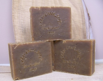Antique Sandalwood Soap Handcrafted Cold Processed Soap Earthy Soap Vegan Soap