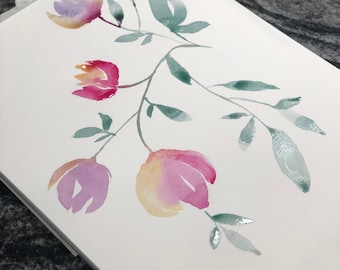Handmade Watercolor Flowers