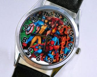Marvel Watch The Avengers Super Heroes (Iron Man, Hulk, Captain America, X-Men, Spiderman)