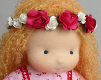 "Waldorf Doll, 12"" (30cm), natural toys, gift for girl, organic waldorf doll,cloth doll, soft doll,handmade doll"