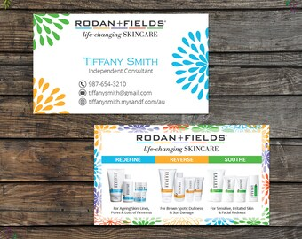 Rodan and Fields Business Cards, Fast Personalized, Rodan + Fields Independent Consultant, Modern Business Cards RF10
