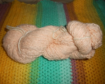 Light Blush/Peach  - Wool /Angora/Cashmere Blend - 1006 yards - DK weight - Recycled, Reclaimed, Upcycled