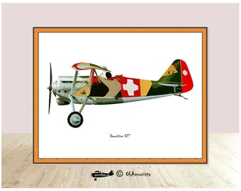 Dewoitine D27, diy print background, digital plane poster, airplane wall art, aviation theme, art vintage, 3x2 ratio 4x3, printable to frame