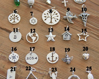 Charms Add on's, All sterling