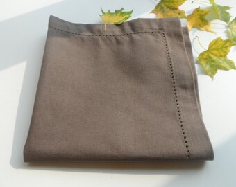 Brown Dinner Napkins set of 10. Brown napkins 15.5'' x 15.5'' Cloth napkins. Dinner napkins.