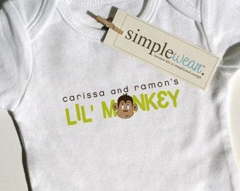 lil' monkey baby bodysuit