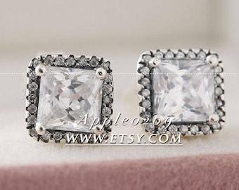 Jewelry Earrings S925 Sterling Silver Timeless Elegance With Clear CZ Stud Earrings For Women Jewelry